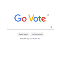 'Go Vote.' Google's Redesigned Homepage Is Encouraging People to Head to the Polls